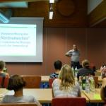 A. Neumann (BBEZ) erfreute die Zuhörer mit der Nachricht der Wiedereröffnung des Rentnerteiches f. Blutegel (Foto: Fickert)